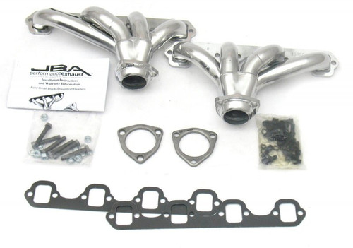 JBA Stainless Steel Ceramic Coated Block Hugger Headers SB Ford 260/289/302/351W 1615SJS