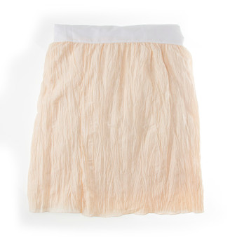 """Anastasia Cream Collection Full Bed Skirt (Ivory Crinkle) 22"""" Drop"""