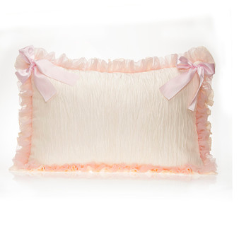 Anastasia Cream Collection Small Sham (Ivory Crinkle with Bows)