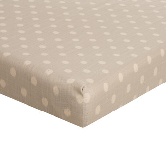 Contessa Collection Mini Fitted Crib Sheet - Grey Dot by Glenna Jean