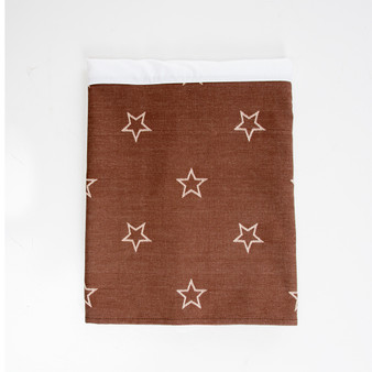 """Carson Collection Full Bed Skirt (Brown Star) 16"""" Drop"""