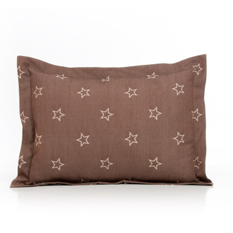 Carson Collection Large Pillow Sham (Brown Star)