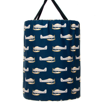 First Flight Collection Laundry Hamper - Airplane Print