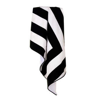 Apollo Collection Crib Quilt / Blanket (Black/White Stripe)