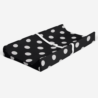 Apollo Collection Changing Pad Cover  - Black/White Dot
