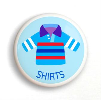 Dresserz Boy's Shirt Drawer Knob (Single) Ceramic