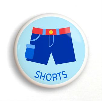 Dresserz Boy's Shorts Dresser Knob (Single) Ceramic