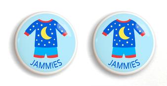 Dresserz Boy's Pajamas Drawer Knobs - Set of 2 (Ceramic)