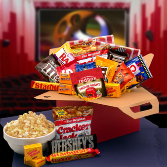 Blockbuster Night Movie Care Package with $10.00 Redbox Gift Card
