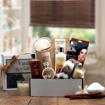 Vanilla Spa Care Package Gift Box for Her