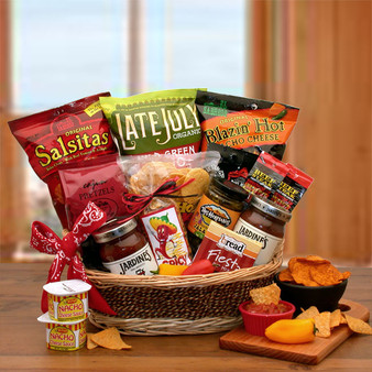 A Little Spice Gourmet Salsa & Chips Snack Gift Basket