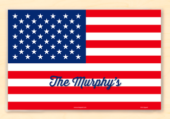 American Flag Forth of July Personalized Placemat