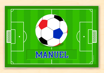 Boy's Soccer Personalized Kid's Placemat
