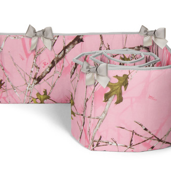 Camo Baby Pink Collection Crib Bumpers (Camouflage Print)