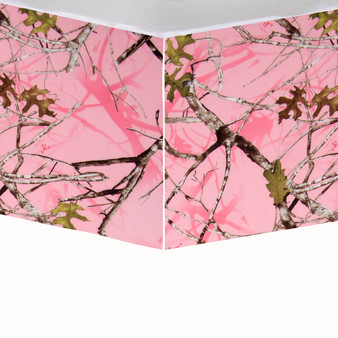 Camo Baby Pink Collection Crib Bed Skirt  - Camouflage Print