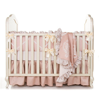 Angelica Collection 4 Piece Crib Bedding Set - with Bumper