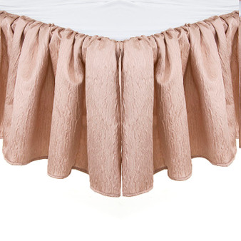 Angelica Collection Crib Bed Skirt / Dust Ruffle - Solid Pink