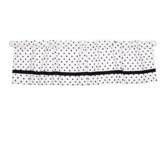 Black Triangles Dots Rod Pocket Window Valance