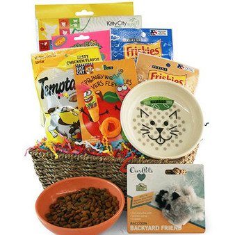 Catnip Crazy: Pet Cat Gift Basket