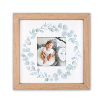Farmhouse Collection Grey Leaves Wreath Picture Frame