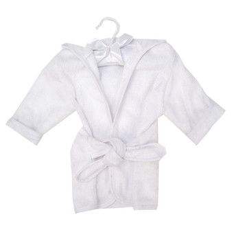 Trend Lab Cotton Terry Infant Robe - White