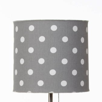 Dottie & Spot Collection Mod Lamp Shade (White on Grey Dot Fabric)