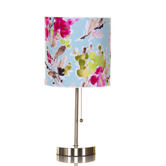 Cherry Blossom Mod Table Lamp with Floral Shade (18x8.5x8.5) (60W)