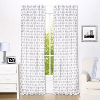 Grey Elephant Blackout Window Curtain Panel Pair