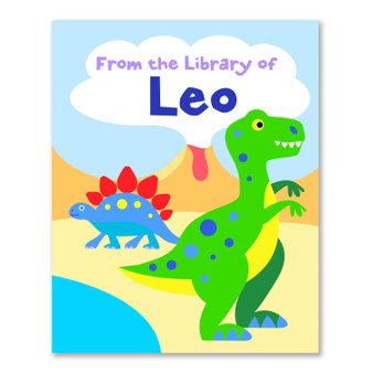 Dinosaurs Personalized Kid's Bookplates - Set of 12