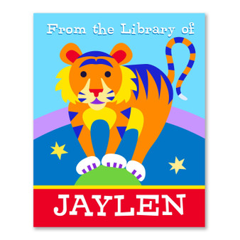Big Top Circus Personalized Kid's Bookplates - Set of 12