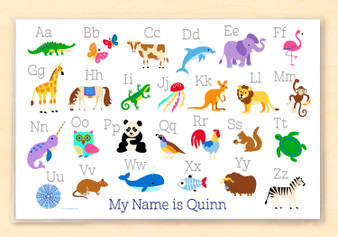 Animal Alphabet Personalized Kids Placemat