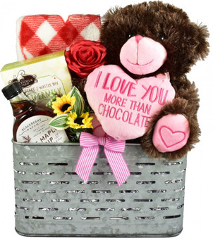 Let's Snuggle! Adorable Breakfast Gift Basket for Any Occasion