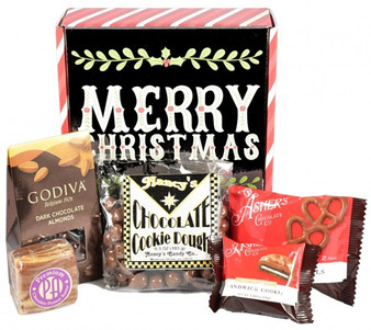 A Sweet Christmas Greeting! Holiday Care Package Gift Box