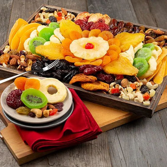 Dried Fruit & Nut Platter: Gourmet Gift Tray