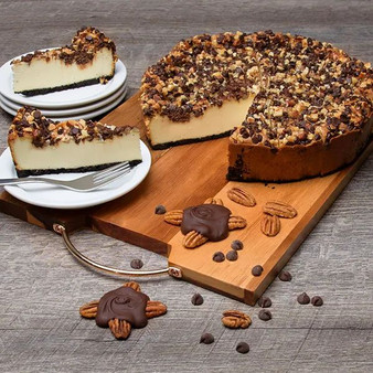 "Decadent Turtle Cheesecake - 6"" Inch Pie"