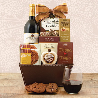 Cabernet Wine and Chocolate Gift Basket