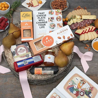 Epic Charcuterie Fruit, Cheese, Nuts and Sausage Gift Basket