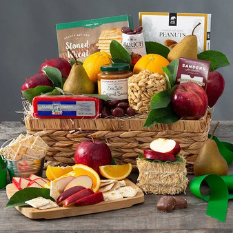 Classic Fresh Fruit and Snacks Gift Basket