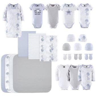 23-Piece Newborn Baby Boy's Cotton Layette Gift Set - Blue and Grey