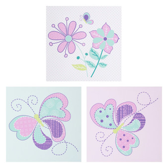 Butterfly Meadow 3 Pack Canvas Wall Art by Sammy & Lou®