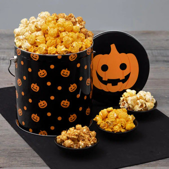 Monster Munch Halloween Popcorn Tin - Choose Flavor and Tub Size