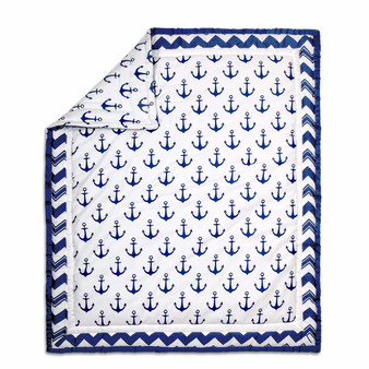 Anchor Cotton Quilt in Navy