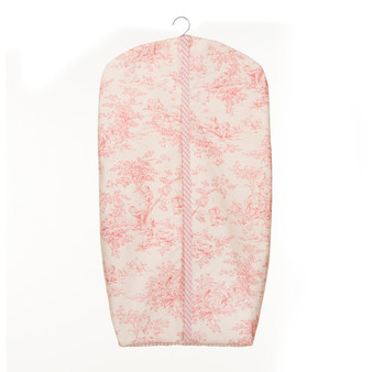 Cottage Rose Collection Diaper Stacker (Toile and Pink Gingham)