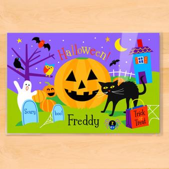 Halloween Pumpkin Personalized Kids Placemat