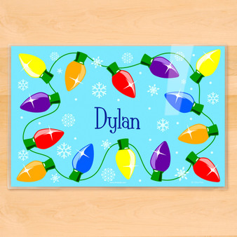 Christmas Lights Personalized Kids Holiday Placemat