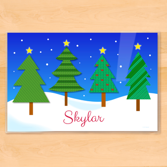 Christmas Forest Personalized Kids Holiday Placemat