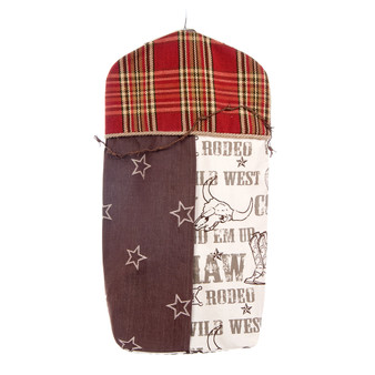 Carson Collection Diaper Stacker (Plaid, Cowboy and Brown Star)