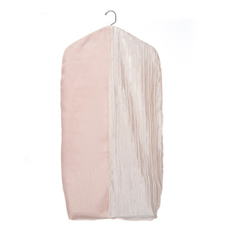 Lil' Princess Collection Diaper Stacker (White Crinkle and Pink Faux Silk)