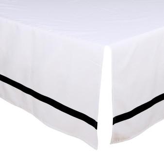 Black and White Crib Dust Ruffle