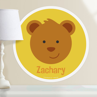 Baby Animals Bear Personalized Kids Wall Dotz Decal